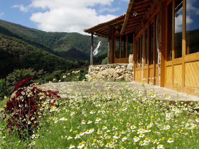 Onde ficar no Matutu: o restaurante da Pousada Casa de Hóspede, no alto da montanha