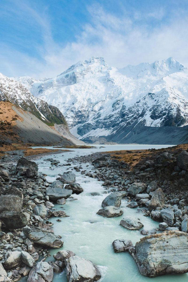 O que fazer na Nova Zelândia: vista incrível da Montanha Cook.