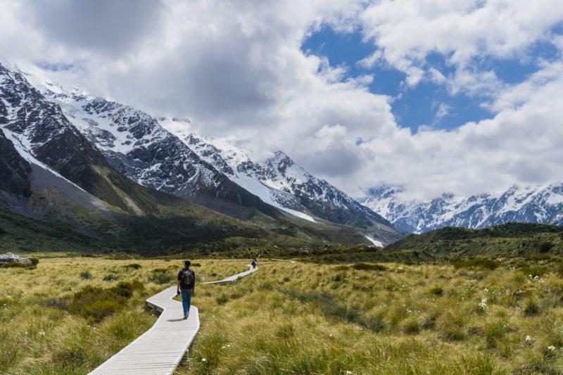 Lugares para visitar na Nova Zelândia: caminhos da Montanha Cook.