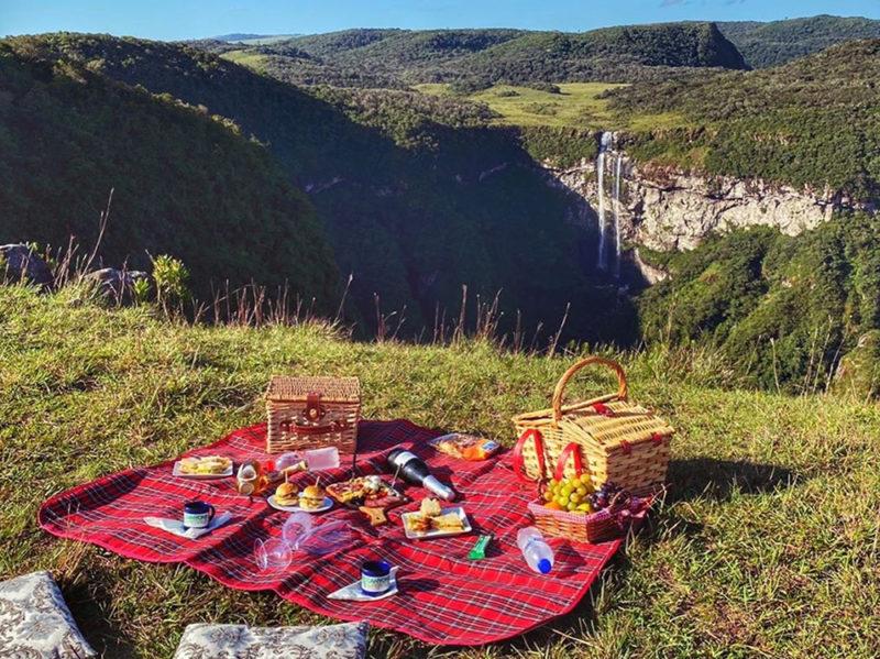 E o picnic com a vista dos Canyons?