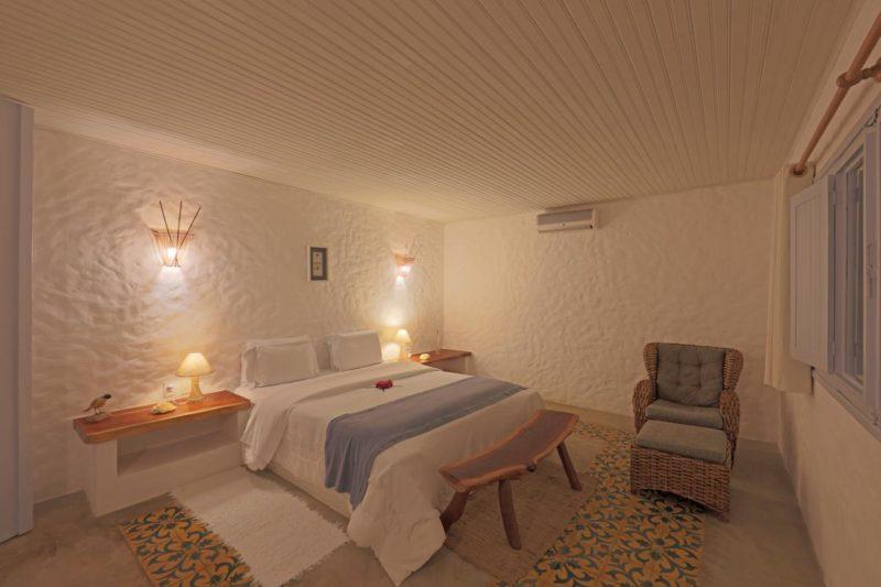 Dicas Rota Ecológica: quarto da Pousada Aldeia Beijupirá.