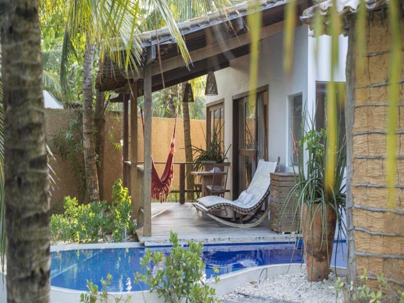 Onde ficar em São Miguel dos Milagres: Pousada do Toque e seus chalés com piscina privativa