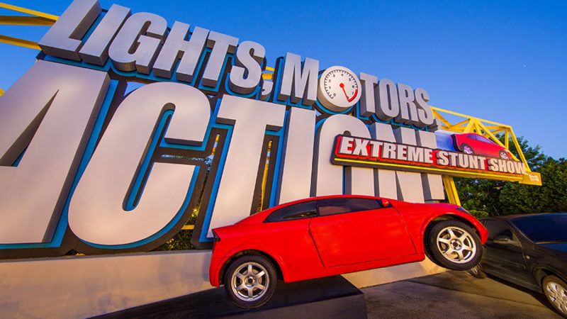 Atrações fechadas Orlando: Lights, Motors, Action, no Hollywood Studios.