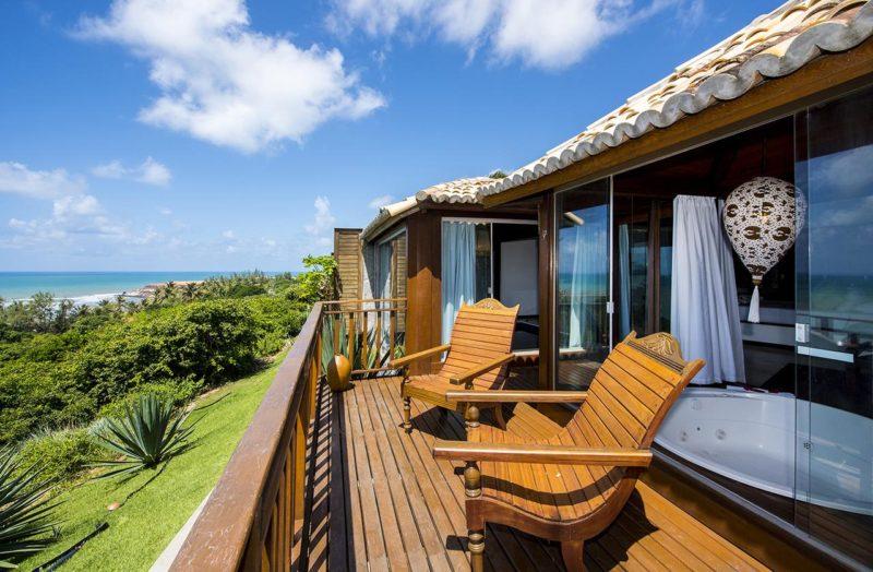 Onde ficar em Pipa: varandas individuais do Hotel Sombra e Água Fresca, ideais para distanciamento social.