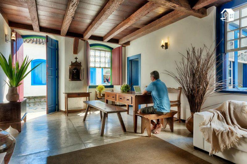 Casa para aluguel no centro histórico de Paraty: opção para uma viagem em meio à pandemia