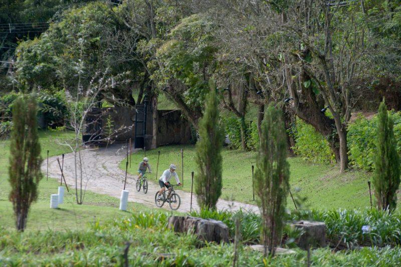 Turismo de isolamento: atividades na natureza do Les Roches incluem bicicleta