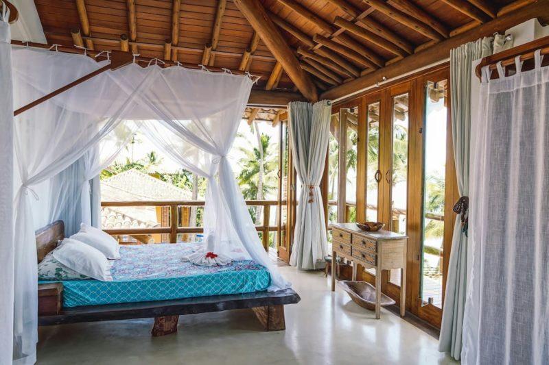 As casas mais lindas para alugar: todos os quartos da Casa Boa sorte tem varanda.