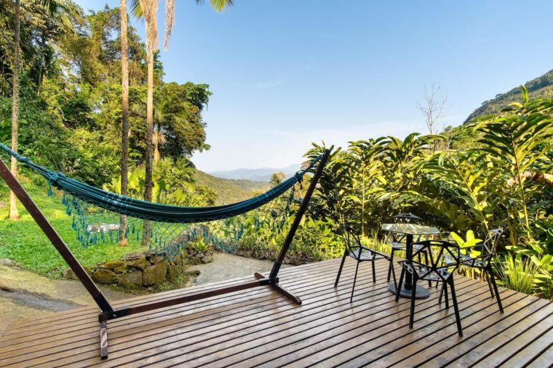 Dicas de casas lindas para alugar: vista deslumbrante da Design Cabin, em Paraty.