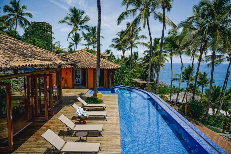 15 dicas de casas lindas para alugar no Brasil: área externa da Casa Boa Sorte, em Itacaré.
