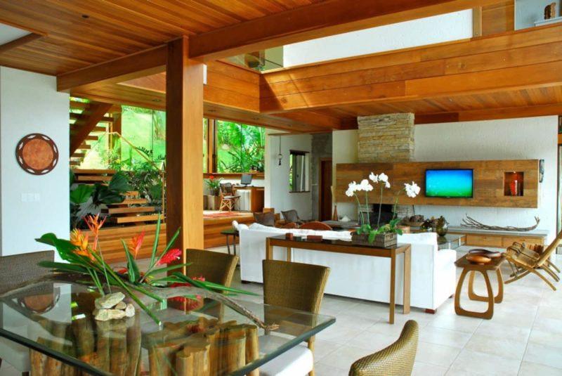 Airbnb Brasil: interior da Casa Refúgio, em Floripa.