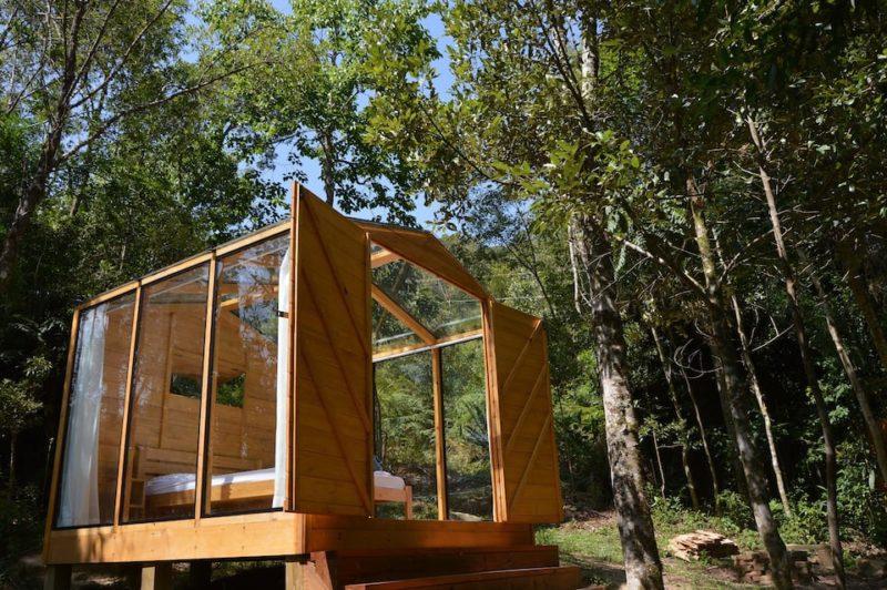 Melhores Casas Airbnb Brasil: Cabana de vidro, em Alfredo Wagner.