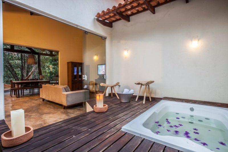 Melhores casas do Airbnb Brasil: Casa do Cipó ainda oferece hidromassagem.