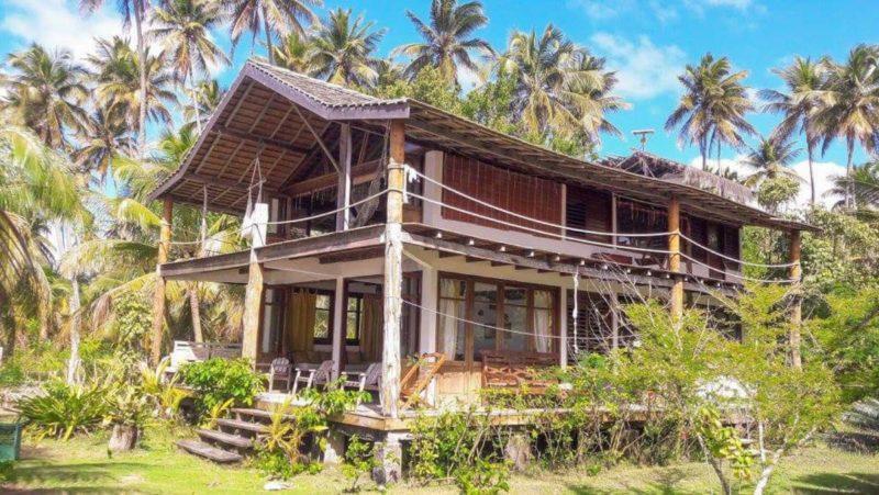 Casas para alugar em Moreré: a cabana de frente para o mar