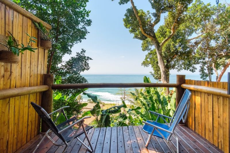 airbnb Ubatuba: a vista da varanda da casa