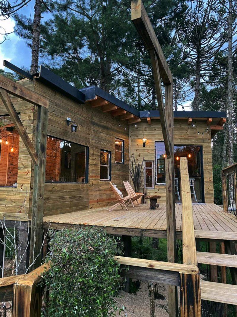 Cabana em Urubici: a Tree House, com proposta que lembram as hospedagens gringas