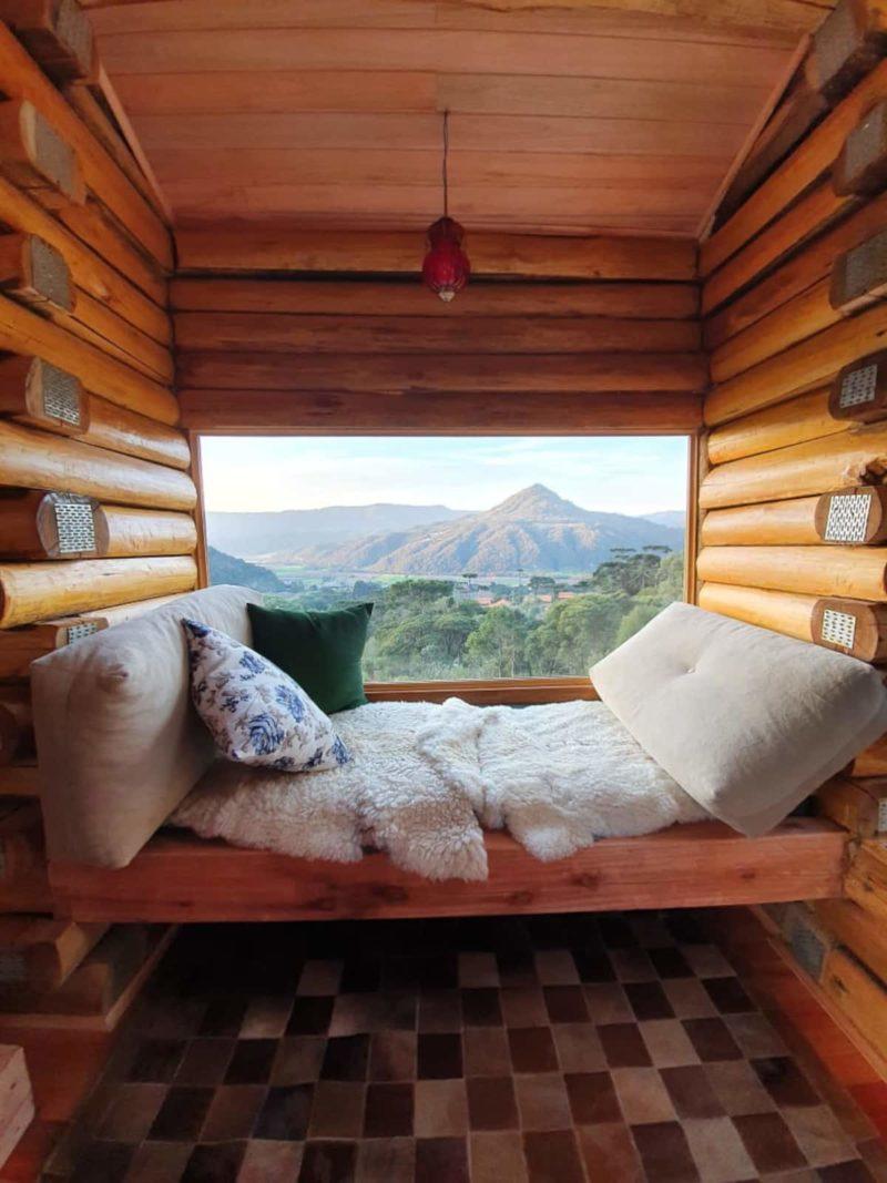 Chalé para alugar em Urubici: a cabana da Cordilheira tem essa vista linda