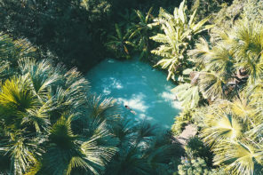 Fervedouros Jalapão: a beleza do Fervedouro Bela Vista, cercado de vegetação e água muito azul
