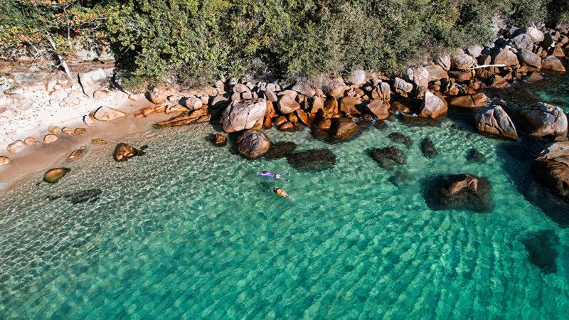 A praias dos Meros, na Ilha Grande